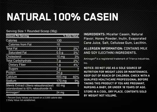 Optimum Nutrition Casein Protein Aa Sports Nutrition